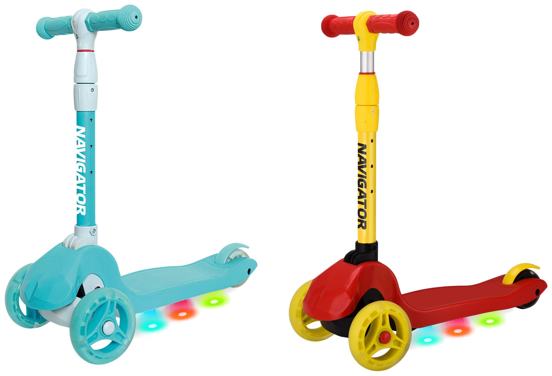 Купить Самокат Navigator (светятся колеса, дека) Navigator, Самокаты детские трехколесные