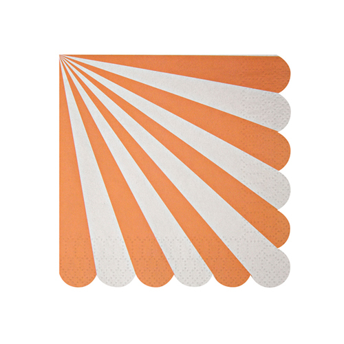 Салфетки Meri Meri в оранжевую полоску маленькие фото