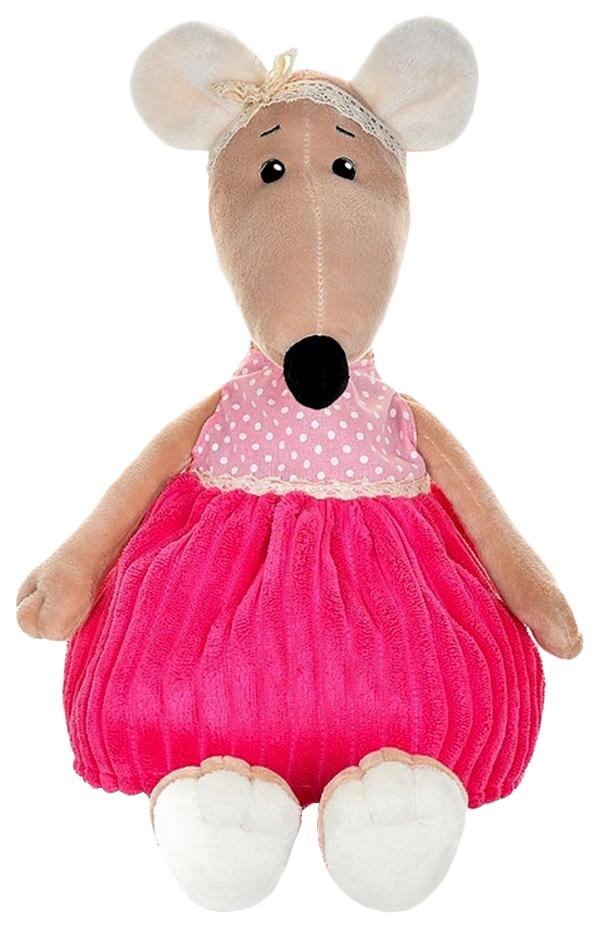 """Мягкая игрушка """"Крыса Анфиса в розовом платье"""", 21 см Maxitoys"""
