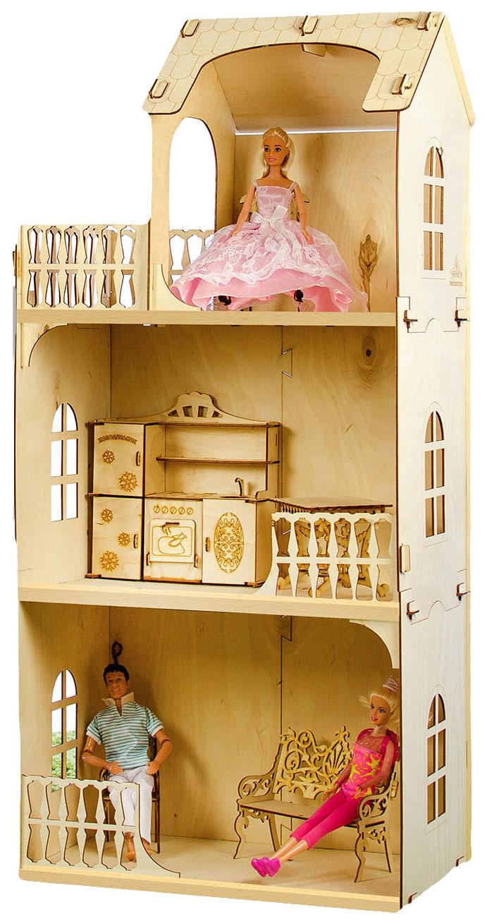 Купить Конструктор Кукольный домик. Любава без мебели Теремок, Кукольные домики