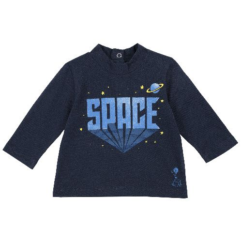 Купить 9006824, Лонгслив Chicco Space для мальчиков р.86 цв.темно-синий,