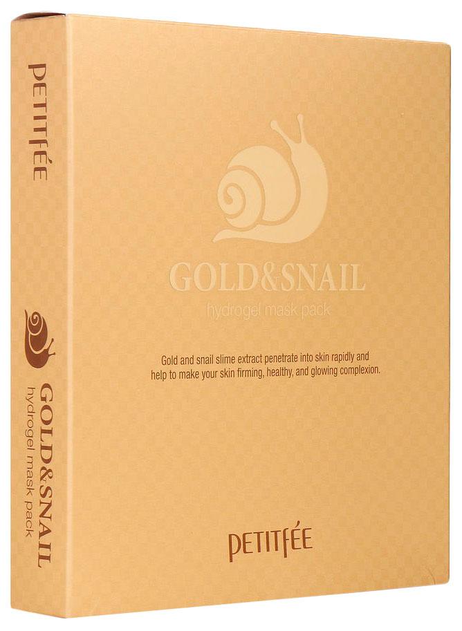 Купить Маска для лица Petitfee Gold & Snail Hydrogel Mask Pack 5x30 мл