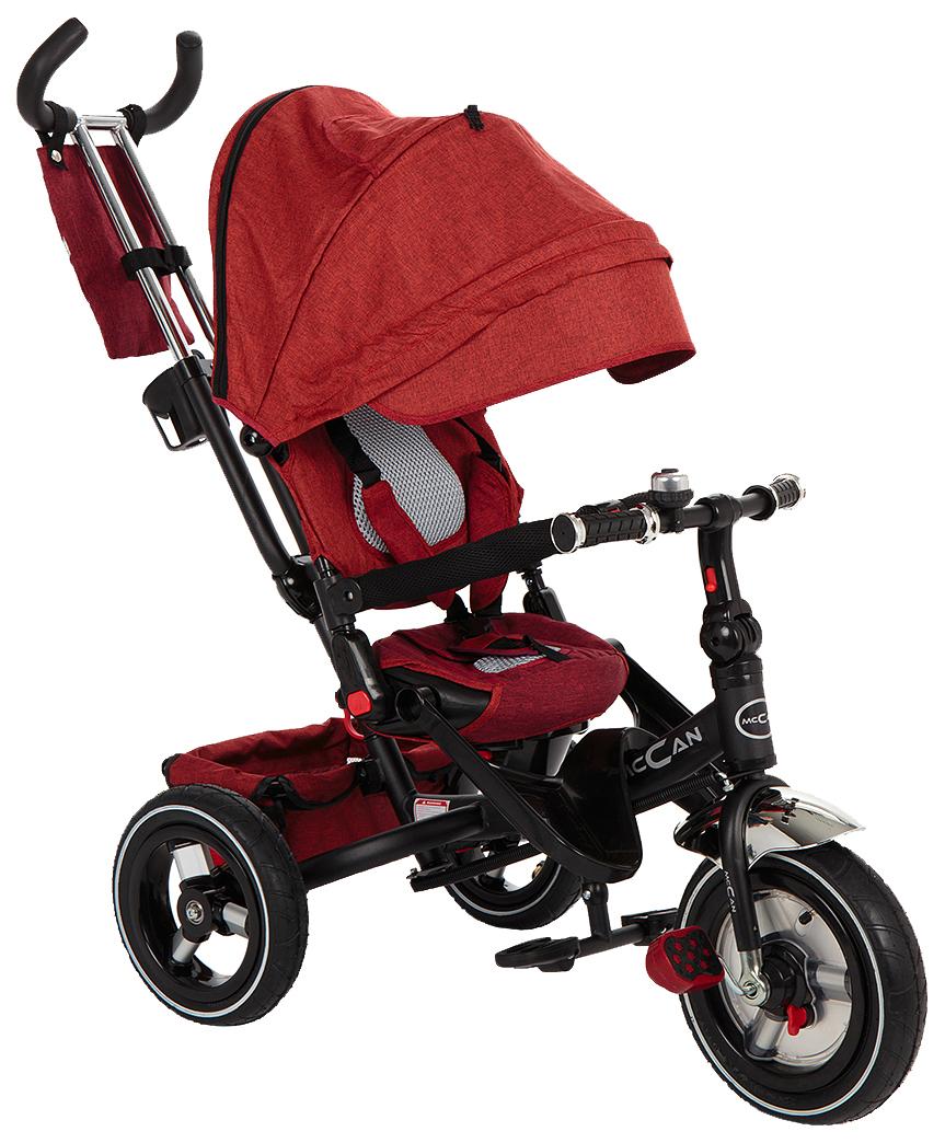 Купить Детский трёхколёсный велосипед McCan M-8 красный лён, Детские велосипеды-коляски