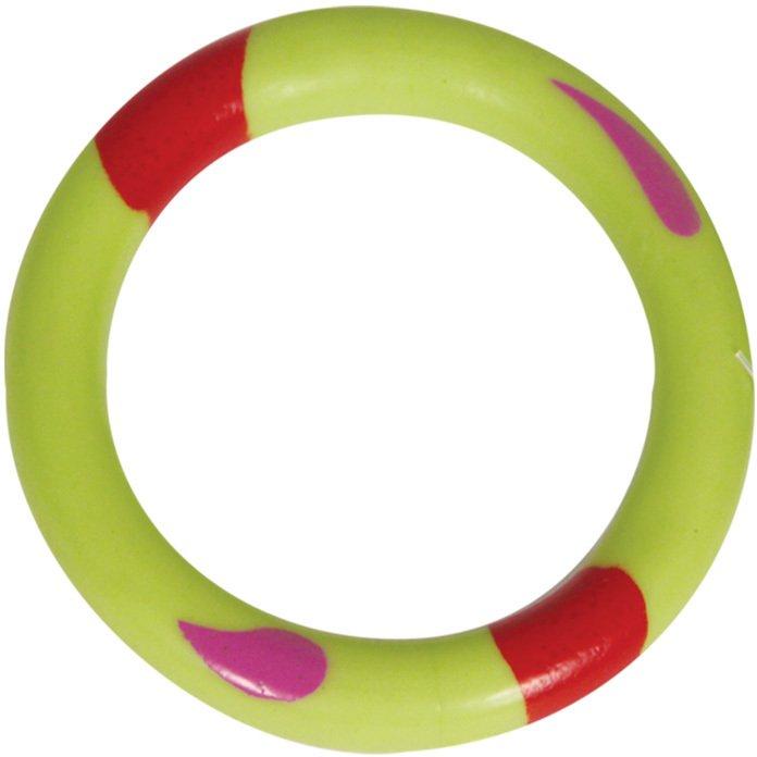 Жевательная игрушка для собак Triol Кольцо из резины, зеленое, 11 см
