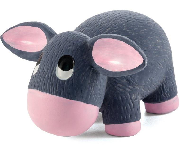 Игрушка-пищалка для собак Triol Крошка-ослик из латекса, розово-серый, 10 см