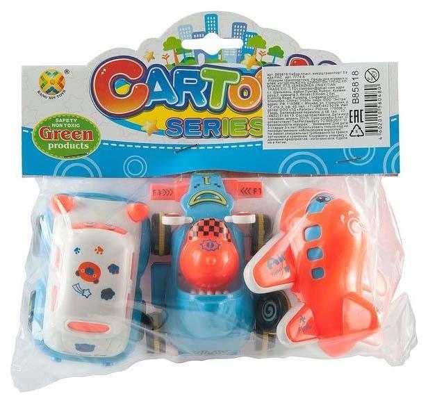 Купить Набор пласт. инерц.транспорт 3 вида PAC, арт. 7774-8, Shenzhen Toys, Наборы игрушечного транспорта