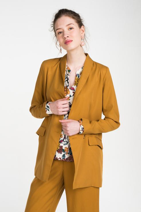 Пиджак женский ICHI 20108154 коричневый XS