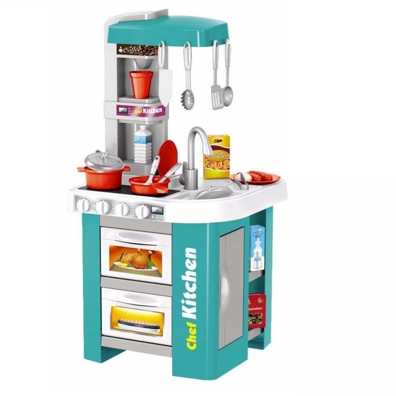 Купить Кухня с водой Talented chef 49 деталей, с холодильником, свет, звук, бирюзовая 922-48, Kitchen, Детская кухня