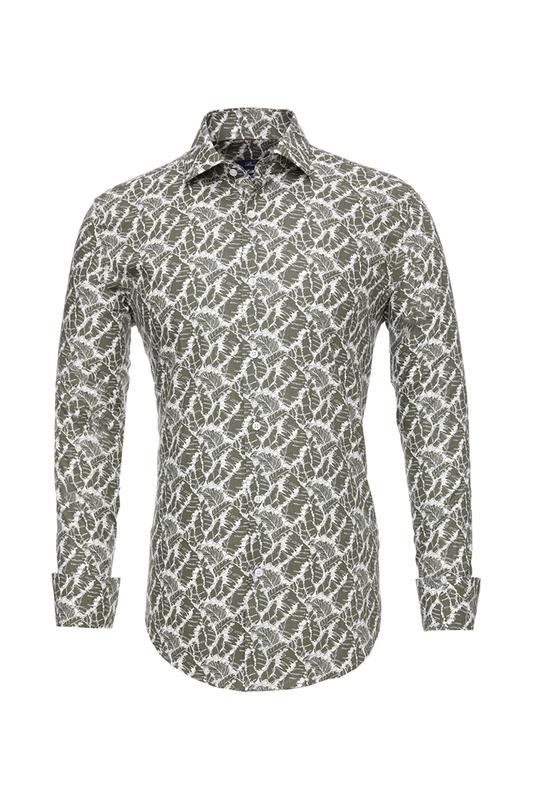 Рубашка мужская BAWER RZ2412070-01 зеленая S