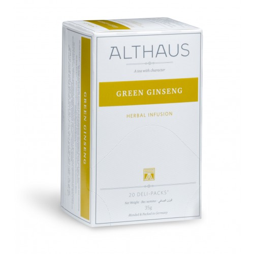 Чай травяной пакетированный Althaus зеленый женьшень фото