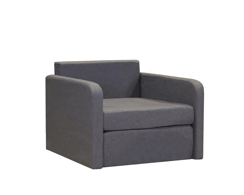 Кресло кровать Бит Куба серый