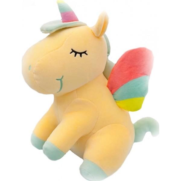 Мягкая игрушка Единорог 60 см цв. желтый