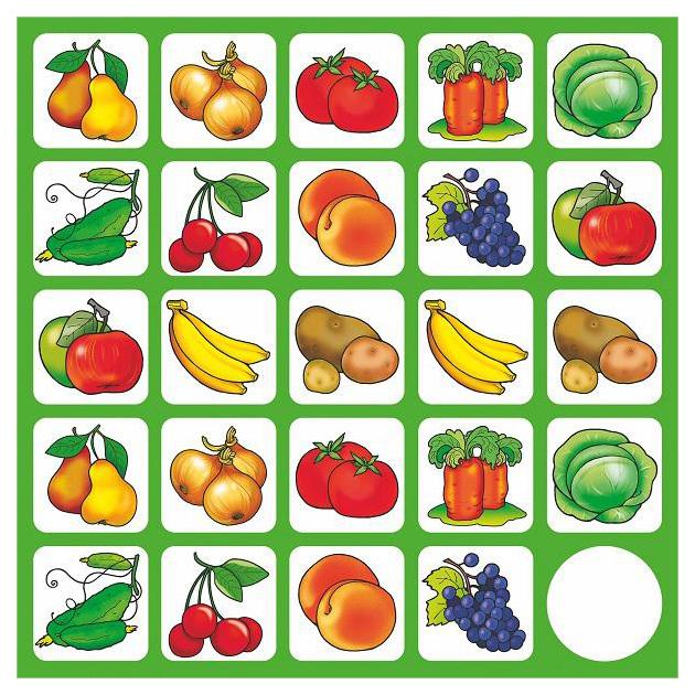 Дидактические игры ДРОФА Запоминайка Овощи и фрукты 1701