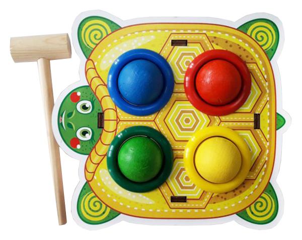 Развивающая игрушка Woodland Стучалка цветная Черепаха 115309