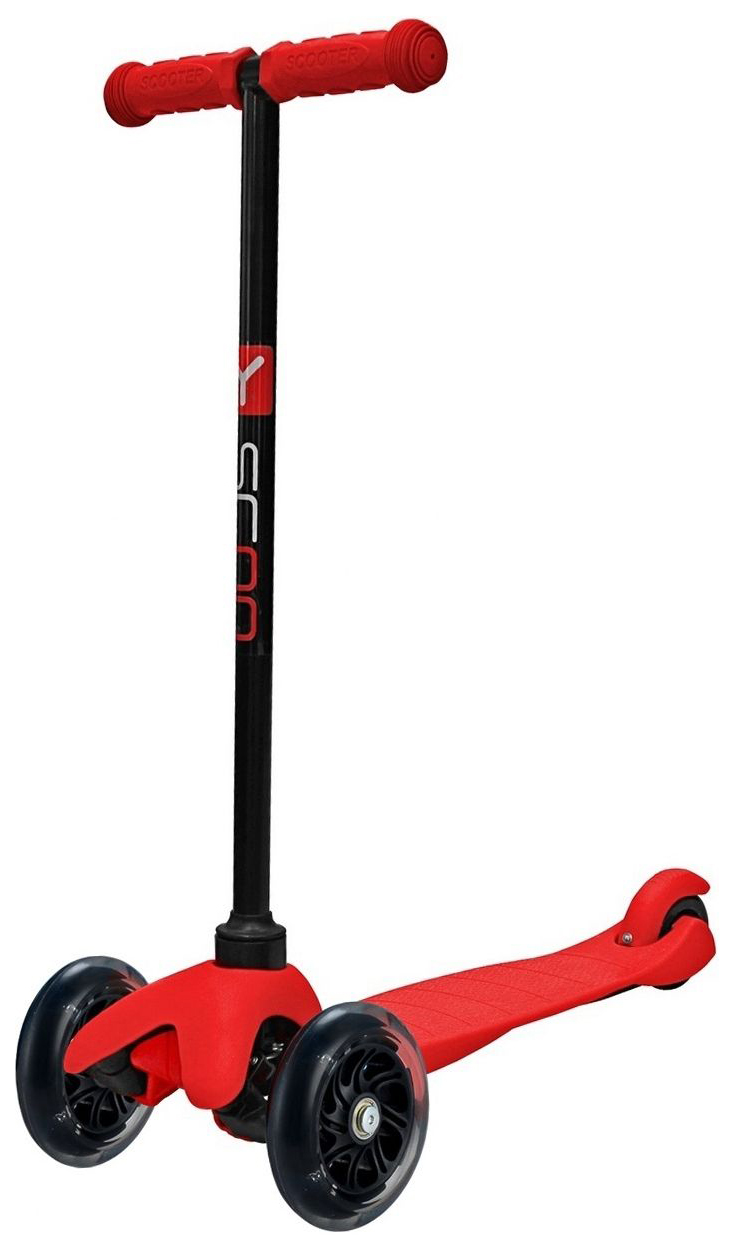 Купить Самокат трехколесный Y-Scoo mini A-5 Shine red со светящимися колесами,
