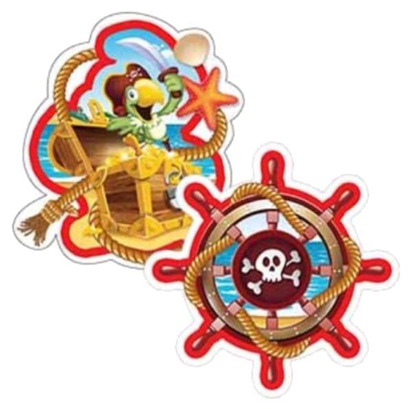 Бумажное украшение подвеска Long Companion Веселый Пират