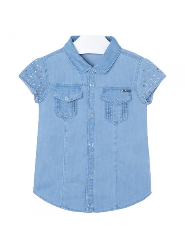 Купить Рубашка Mayoral Голубой р.98, Детские блузки, рубашки, туники