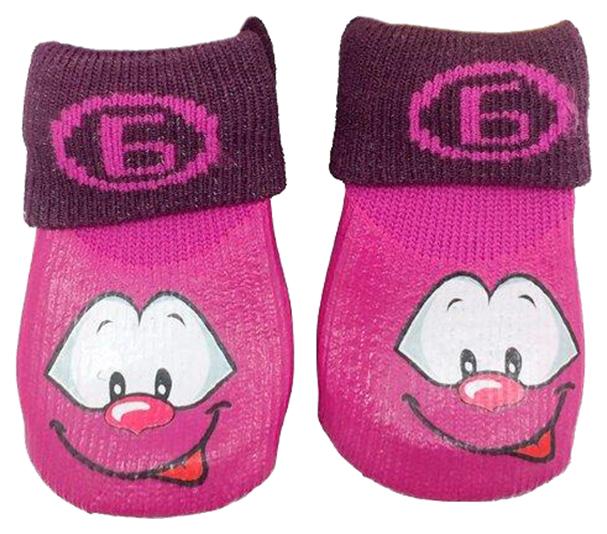 Носки для собак БАРБОСки размер XXS 4 шт фиолетовый.