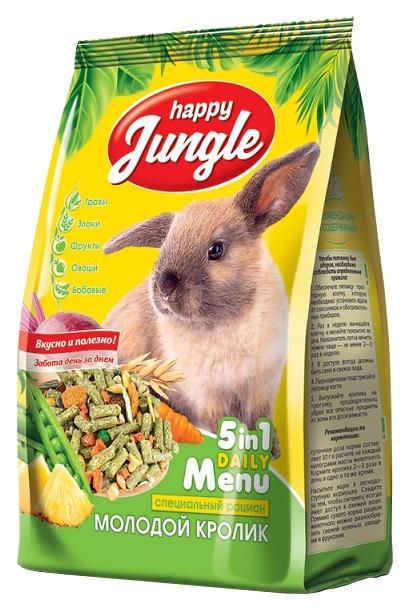Корм для кроликов Happy Jungle витаминизированный
