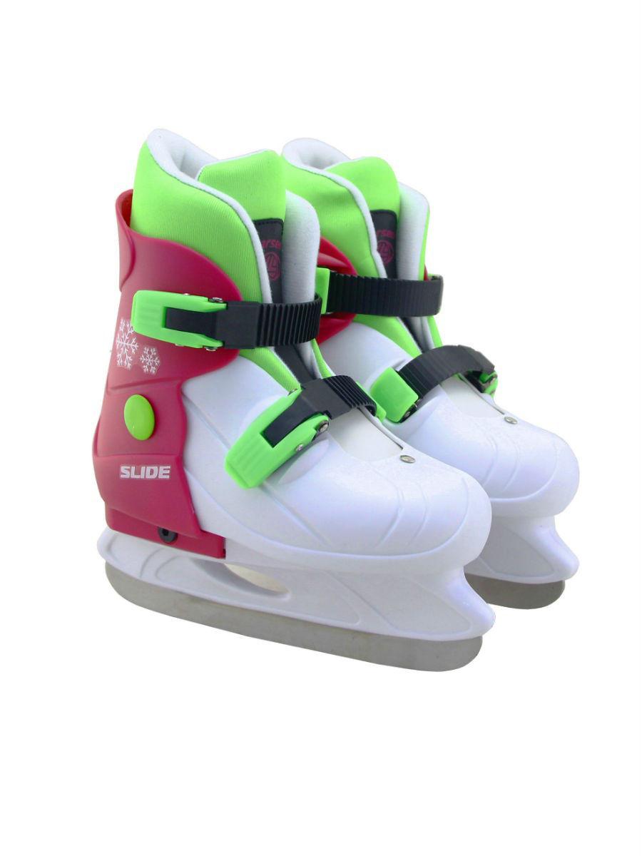 Коньки ледовые раздвижные Slide Pink, размер S (29-32)