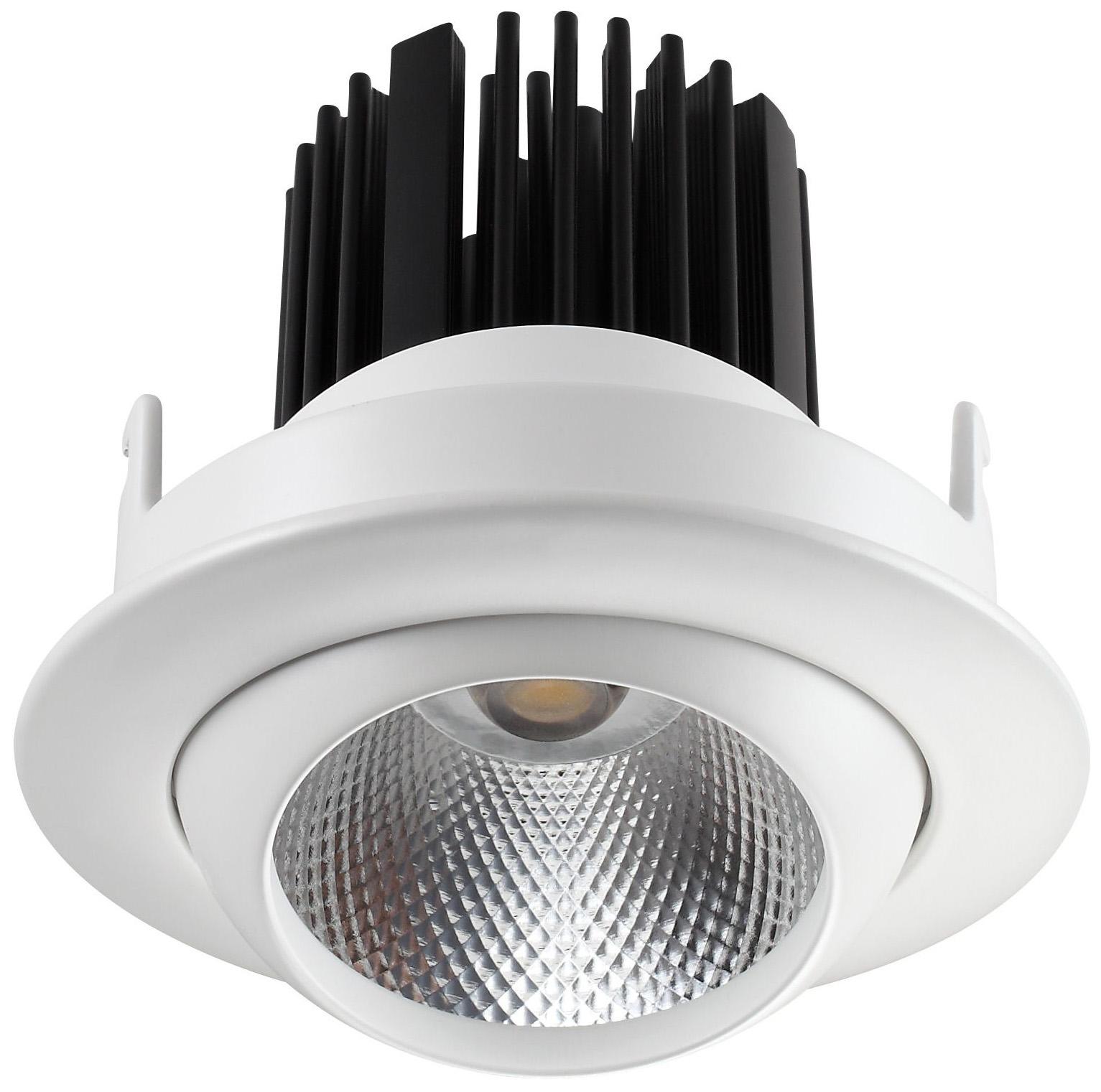 Встраиваемый светодиодный светильник Novotech Drum 357694 Белый 90 мм