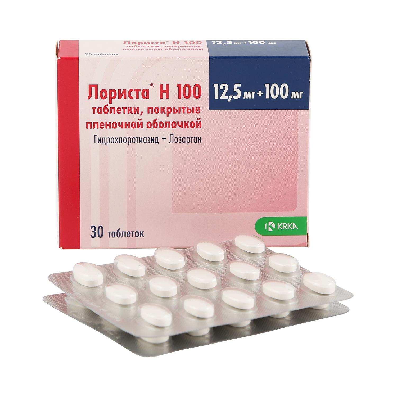 Лориста Н 100 таблетки 12.5 мг+100 мг 30 шт.