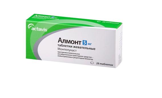 Алмонт таблетки жевательные 5 мг 28 шт.