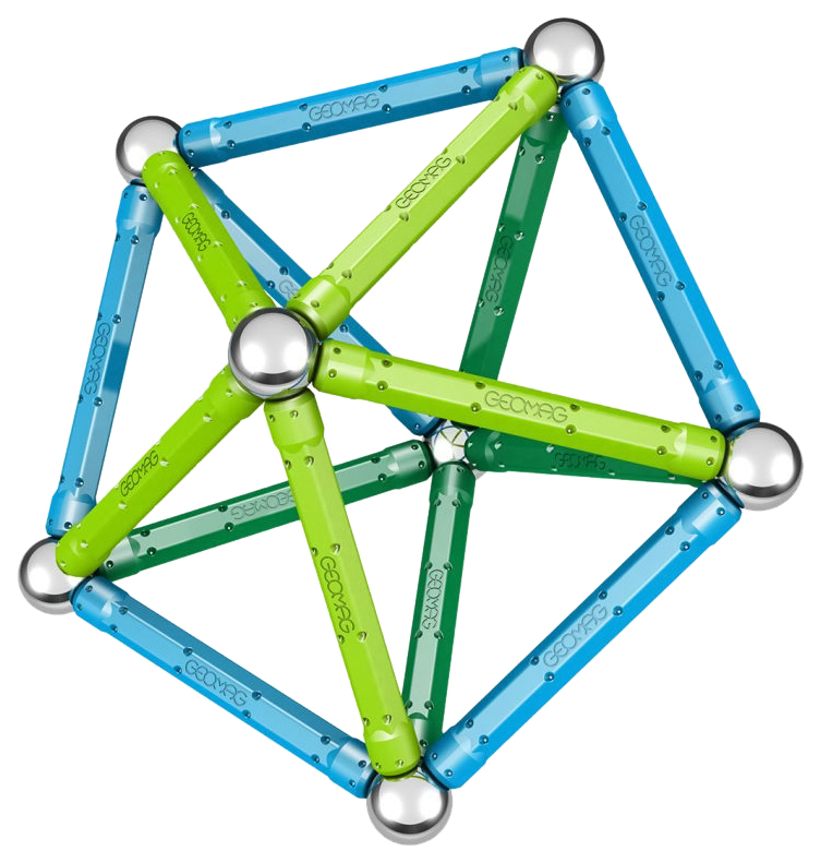 Купить Конструктор магнитный Geomag Color 35 элементов 261, Магнитные конструкторы