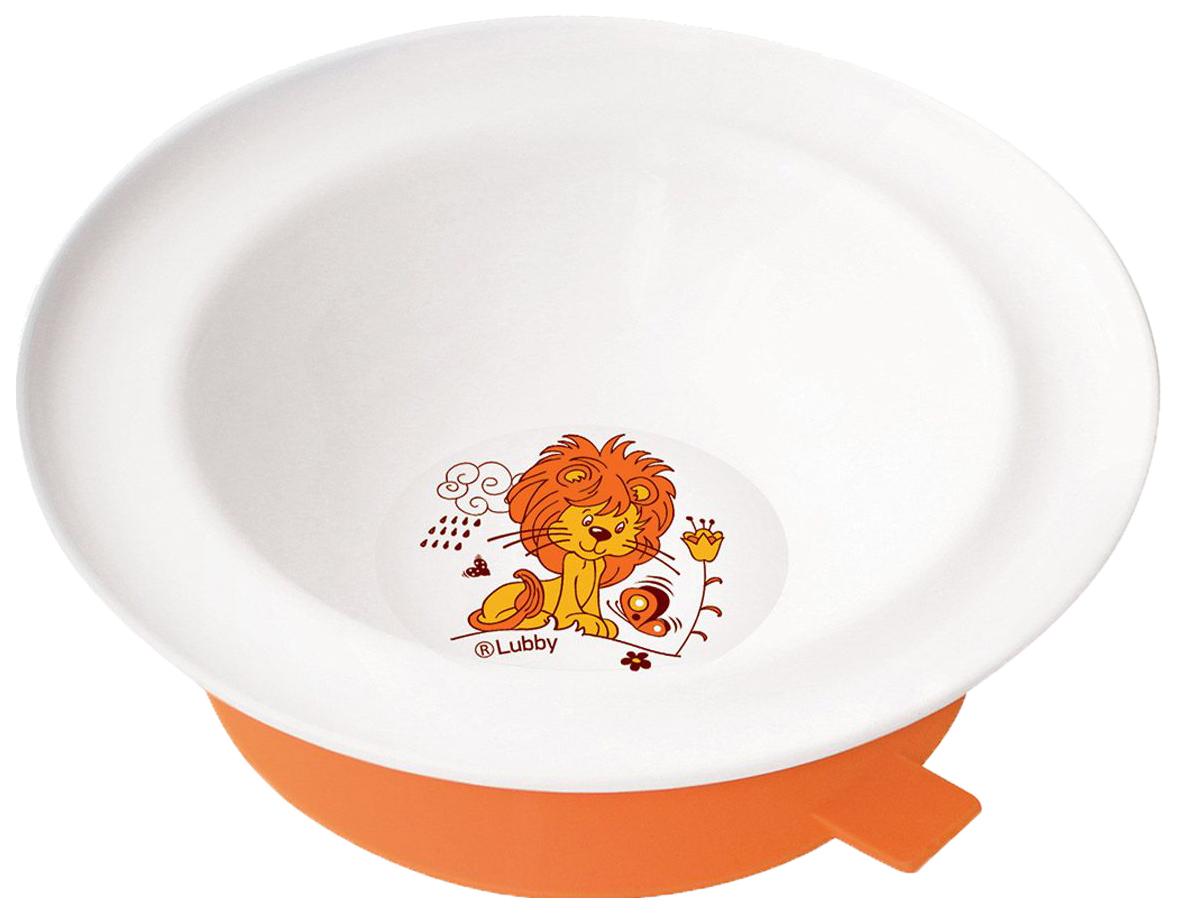 Купить Тарелка Lubby с присоской, Веселые животные, с 6 месяцев, , Тарелка детская Lubby 13954 Разноцветный, Детские тарелки