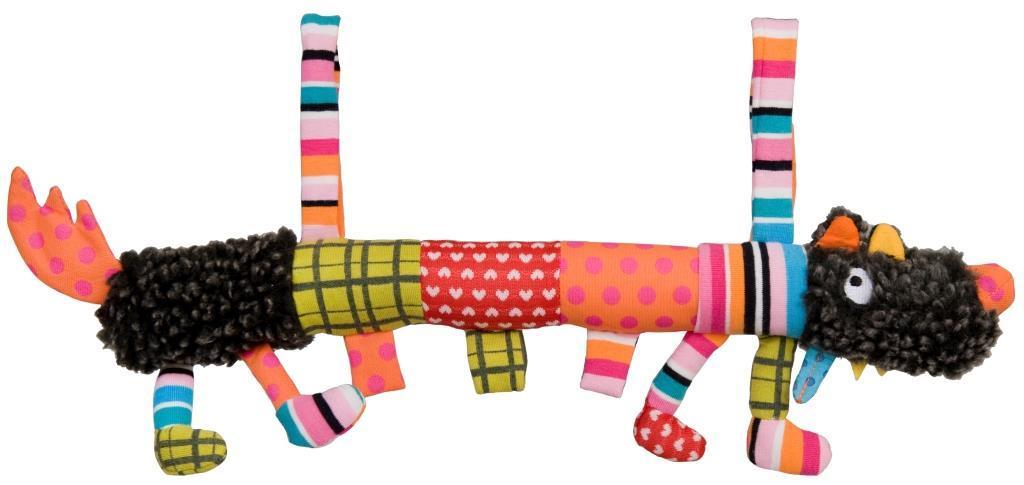 Купить Мягкая игрушка Ebulobo Сосиска Волчонок L 40 см, Мягкие игрушки животные