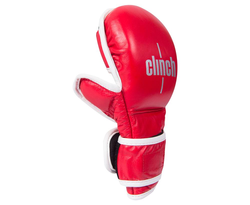 Перчатки для смешанных единоборств Clinch Union красные M