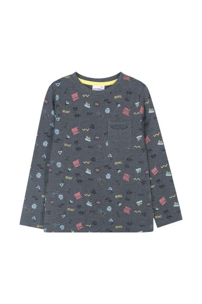 Купить W19143102KIC, Лонгслив для мальчиков COCCODRILLO р.116, Детские футболки, топы