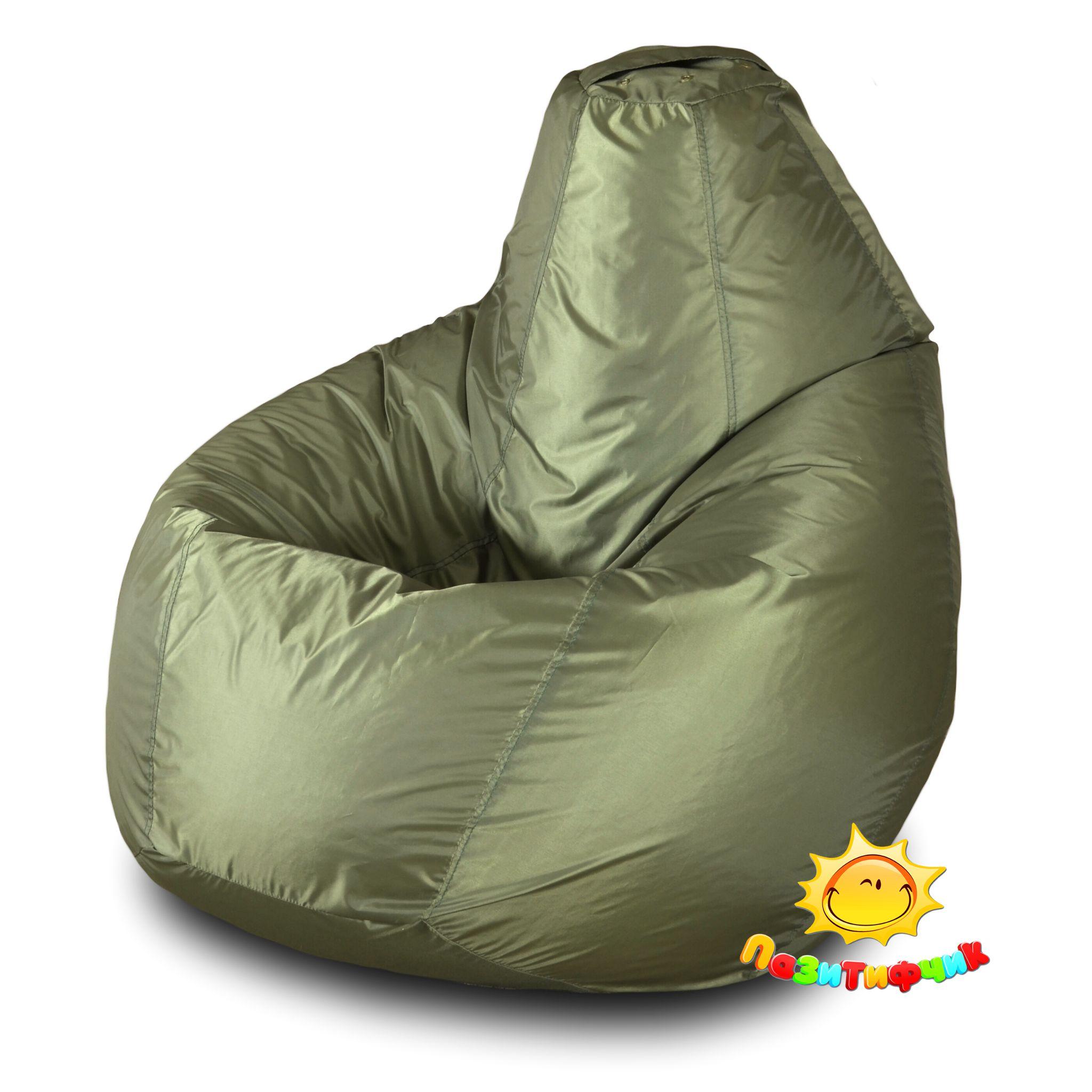 Кресло-мешок Pazitif Груша Пазитифчик Оксфорд, размер M, оксфорд, хаки