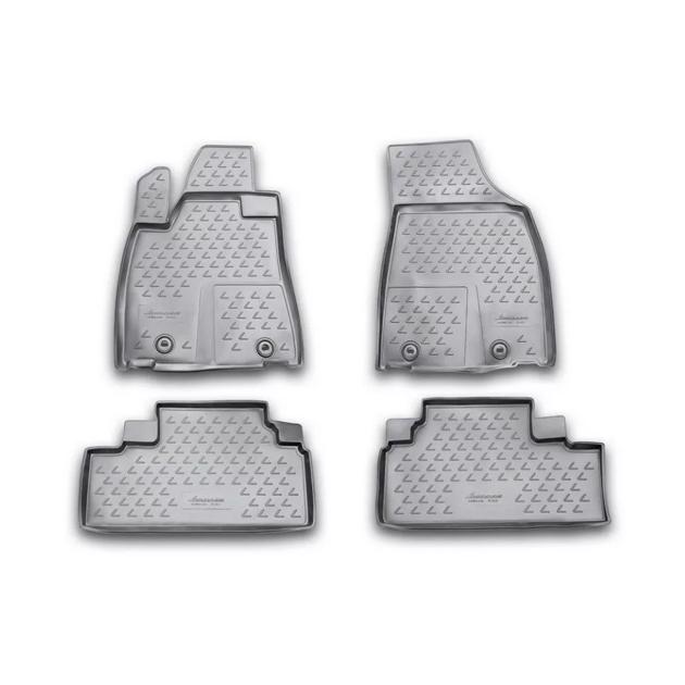 Коврики в салон Element для LEXUS RX350 2009-2012, 4 шт. полиуретан, серые