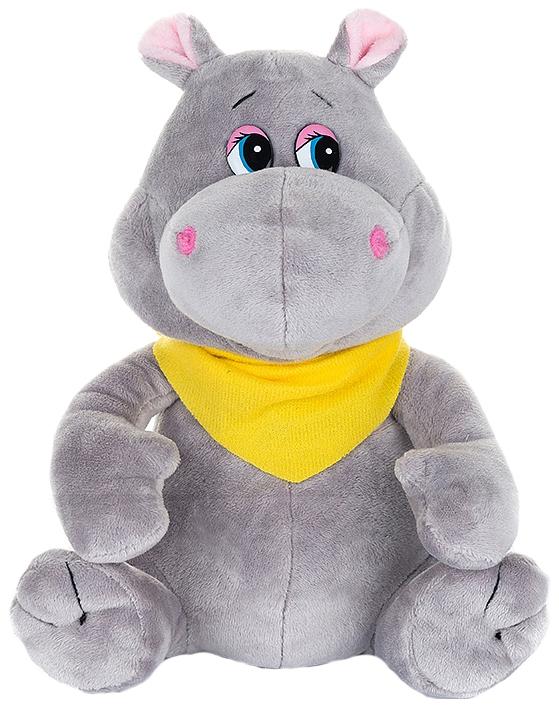 Купить Мягкая игрушка Maxi Play Бегемотик с Платочком MP-071823, Maxiplay, Интерактивные мягкие игрушки