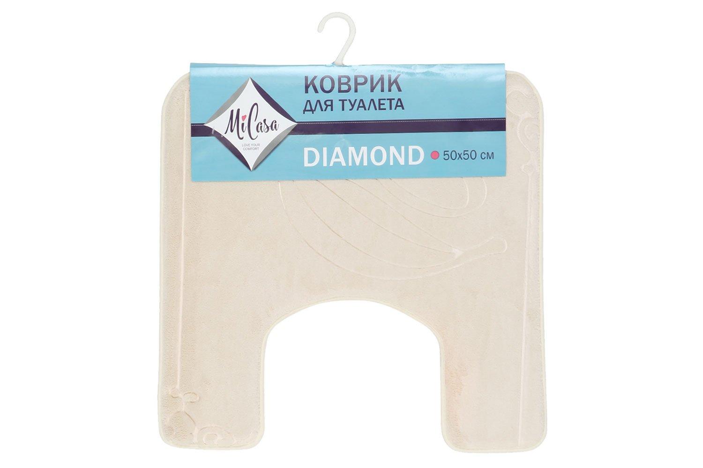 Коврик для туалета MiCasa Diamond бежевый 50х50