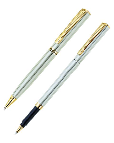 Набор подарочный Pierre Cardin Pen#and#Pen - Matte Steel GT, шариковая ручка + ручка-роллер, M