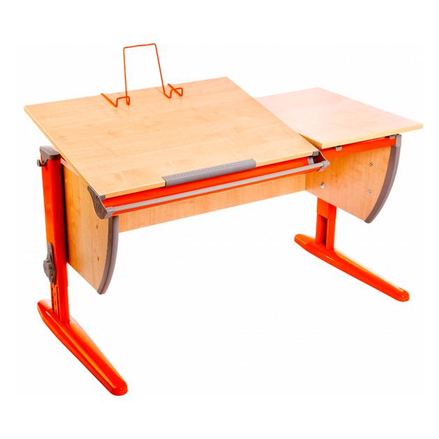Парта Дэми 120Х55 см с раздельной столешницей СУТ-17, клен, оранжевый,