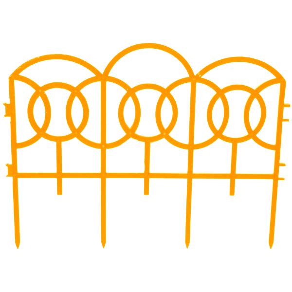 Декоративное ограждение Репка Барокко оранжевый