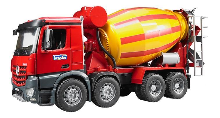 Купить Бетономешалка Bruder Mercedes-benz желто-красный, Игрушечный транспорт Bruder