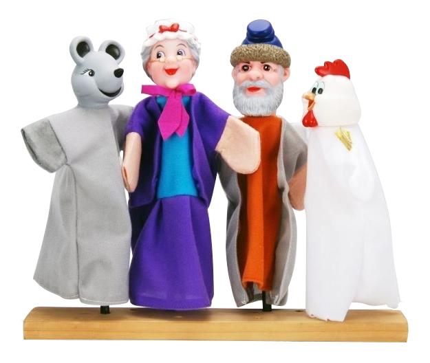 Игровой набор Жирафики Кукольный театр Курочка Ряба 4 куклы 68320