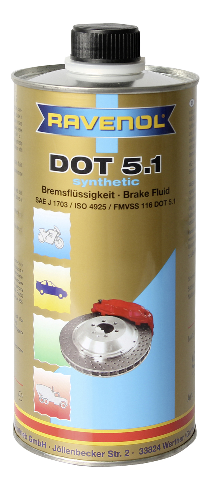 Тормозная жидкость RAVENOL DOT 5.1 1л 1350602-001-01-000 фото
