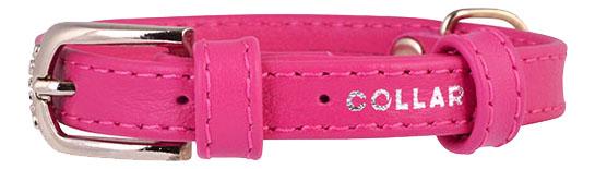 Ошейник COLLAR GLAMOUR без украшений, 15мм, 27-36см, розовый фото