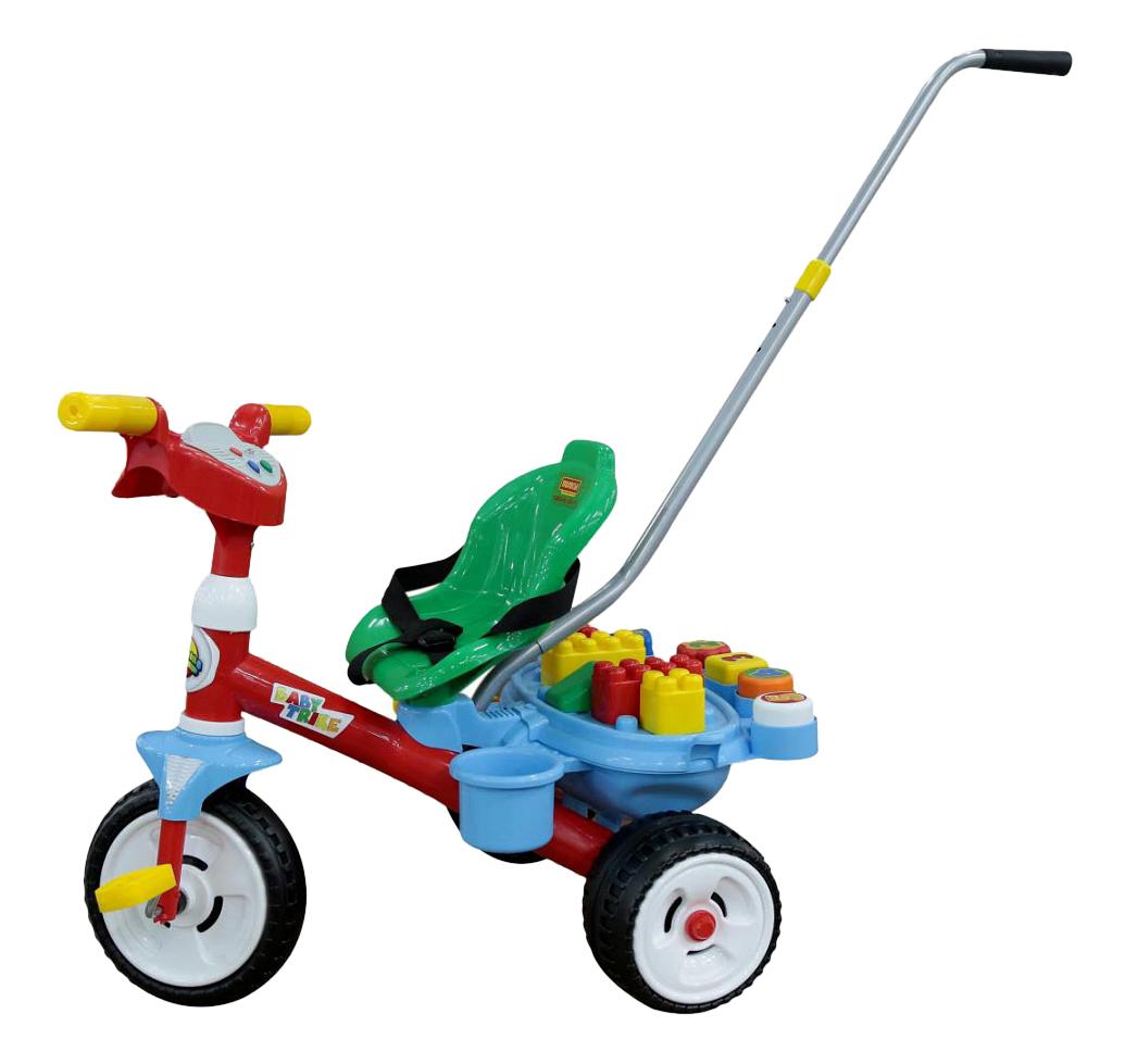 Купить Велосипед трехколесный Полесье Беби Трайк с конструктором, Детские трехколесные велосипеды