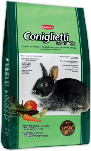 Корм для кроликов Padovan Grandmix Coniglietti 3 кг 1 шт
