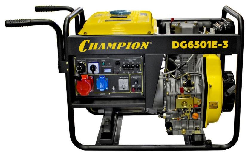 Генератор дизельный CHAMPION DG6501E 3