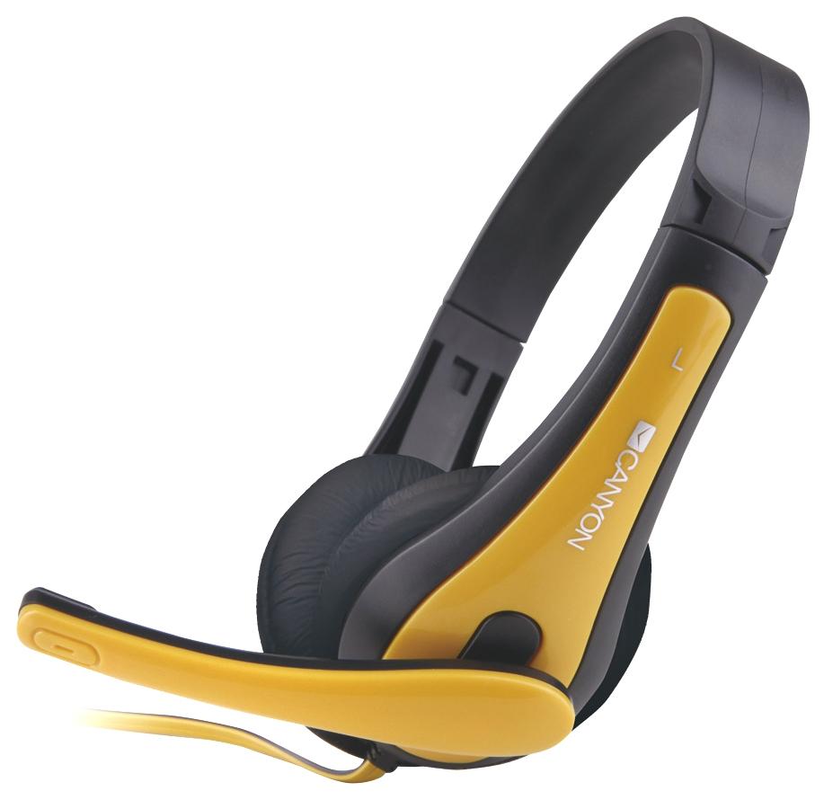 Наушники Canyon CNS CHSC1BY Black/Yellow