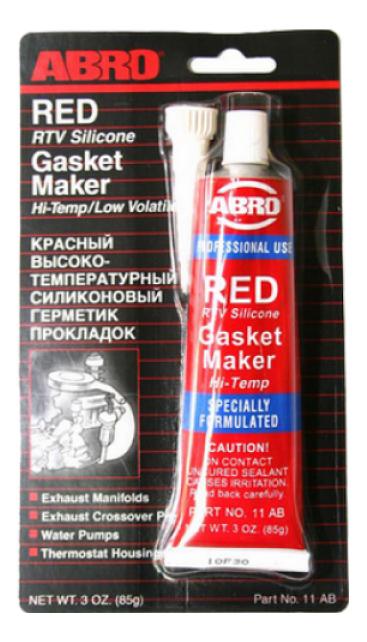 Герметик прокладок высокотемпературный красный ABRO, 85 г