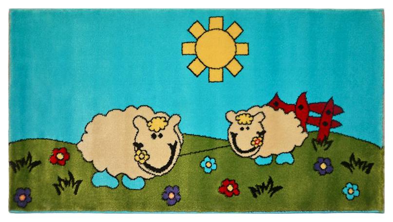 Ковер детский Kamalak tekstil голубой+зеленый 100х150 УКД-2049