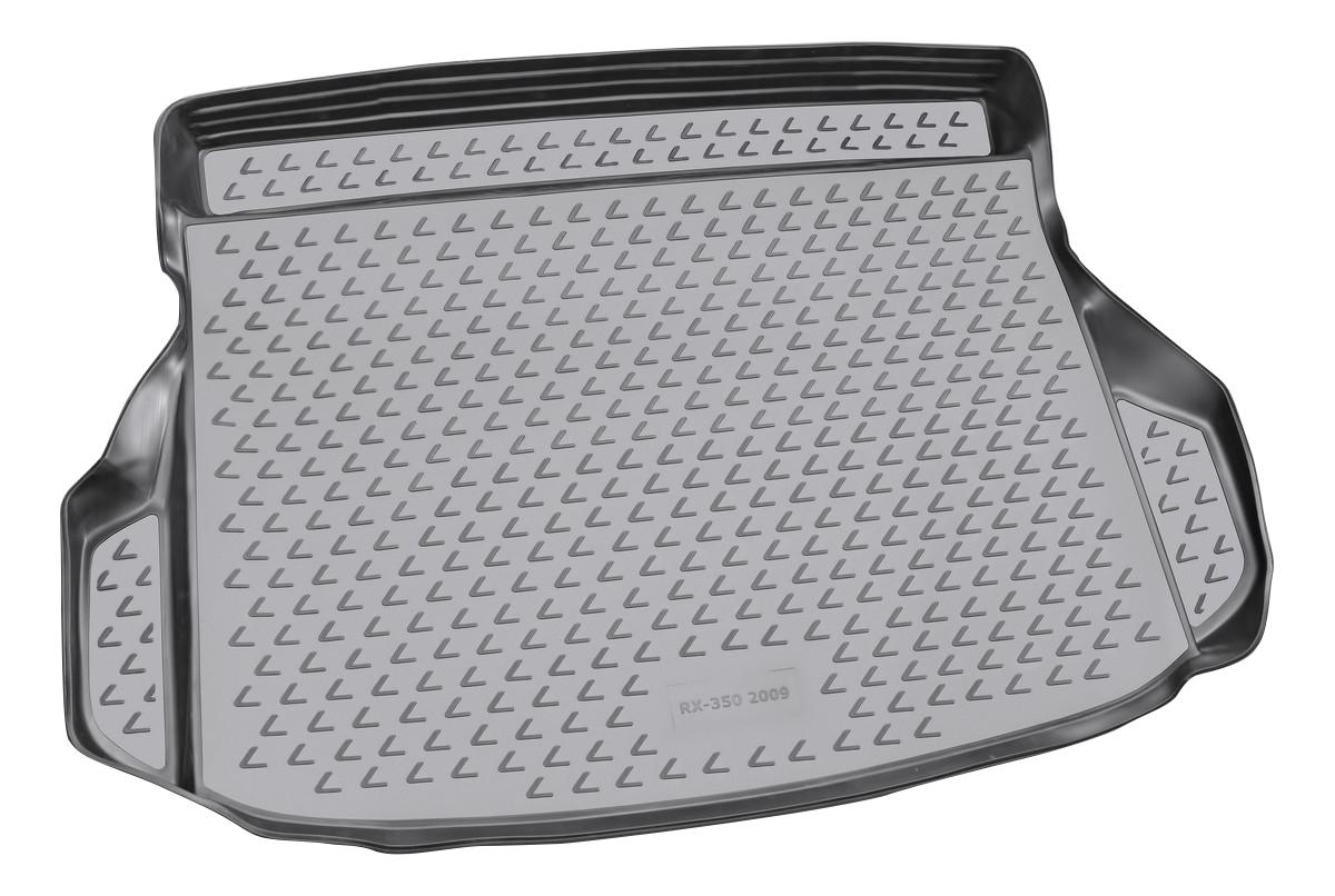 Коврик в багажник LEXUS RX350 2009-2015, кросс, для полноразмерной запаски (полиуретан)